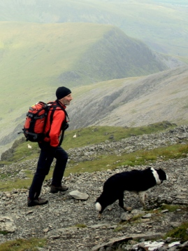 The right size rucksack for me  - on the Rhyd Ddu Path, Yr Wyddfa (Snowdon)
