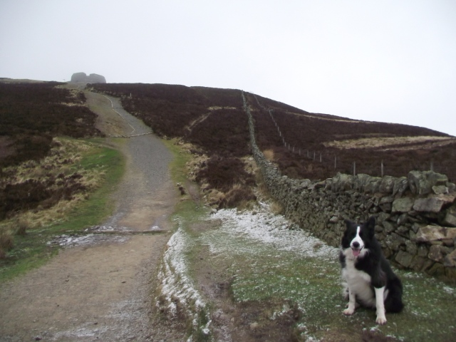 'Mist' on the Moel Famau path