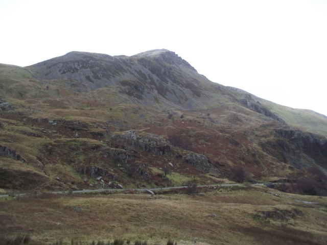 The view from my hiding place- the slopes of Foel Coch above Nant Ffrancon