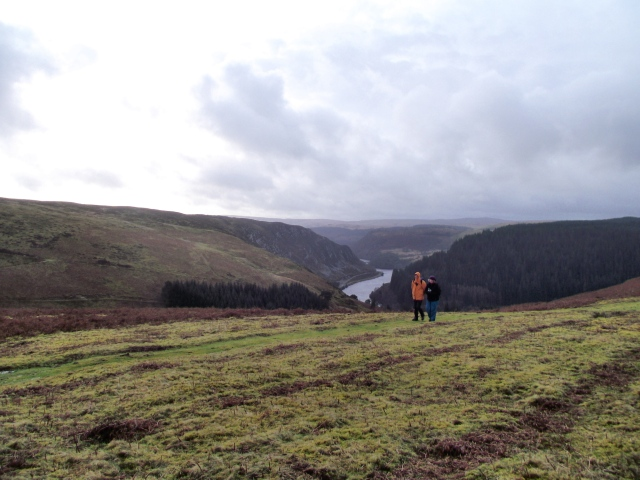 Looking down towards Carreg Ddu Reservoir