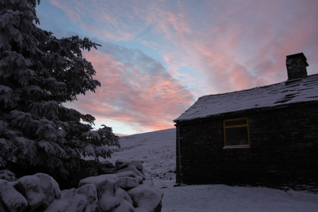 Dawn at Greg's Hut  (JB)