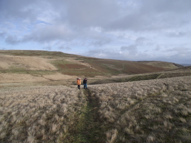 Above the marsh, heading for the Roman Camp