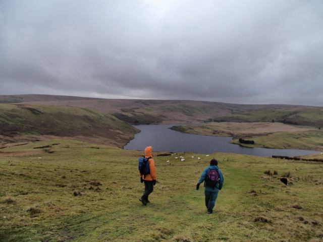 On the move again, heading down to Craig Goch Reservoir