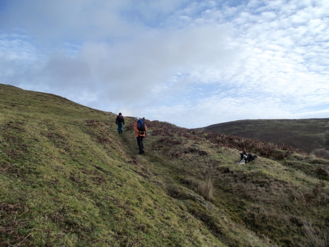 …. before emerging on open moorland