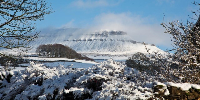 Pen y Ghent in the sun on Monday (Spine)