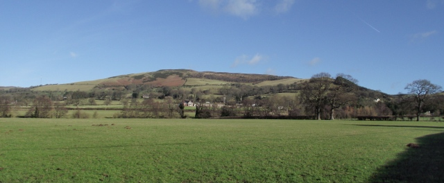Penycloddiau seen from the Vale of Clwyd