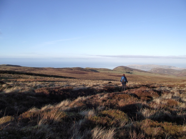 The view from the moor towards the sea