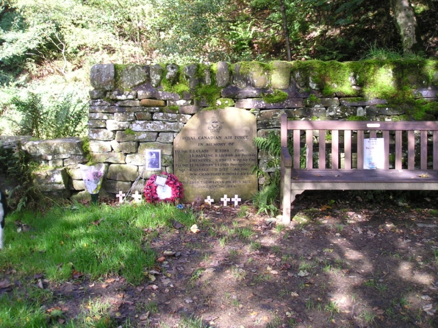 World War II memorial near Haworth, West Yorkshire