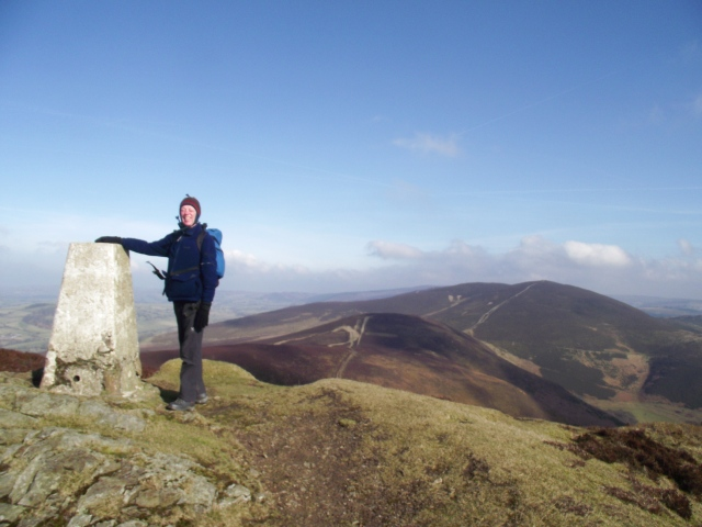 The summit trig column – usually a good sign