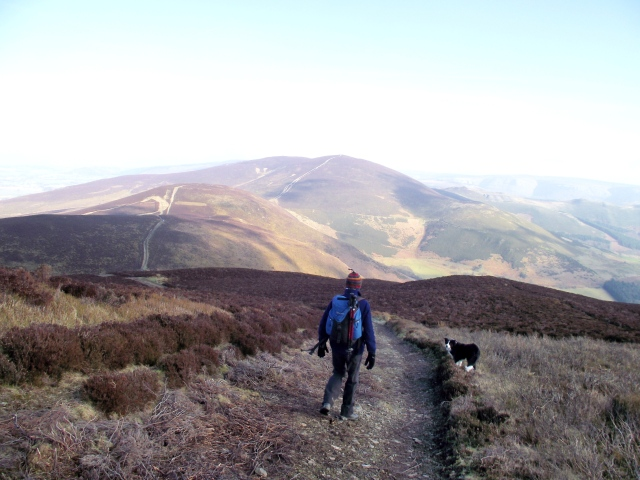 Off again, with Moel y Gaer next on the list