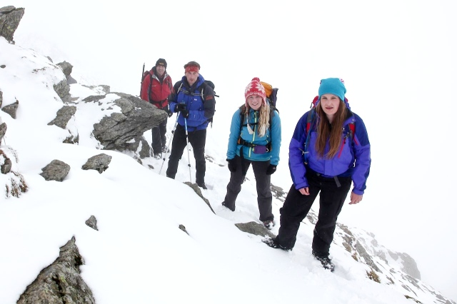 Feeling on edge?– (L to R) Stuart, Joe, Naomi and Olivia