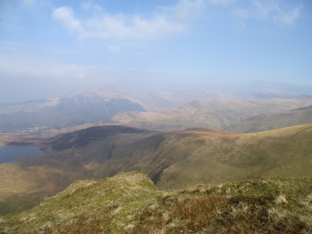 Our descent route, the broad ridge of Cefn Drum.
