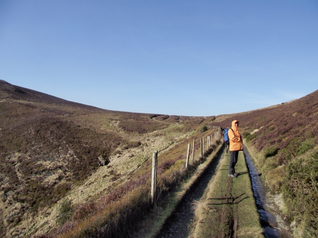 Looking back up the 'Clwydian Way' track