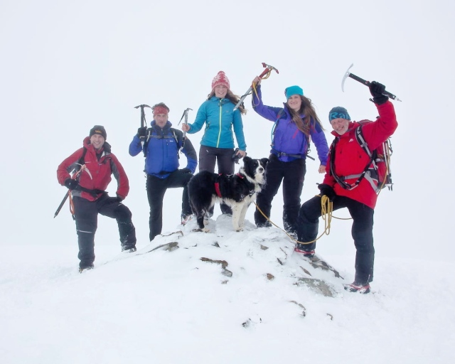 'Cheesy' photograph at the top of Swirral edge – Just got to do it!!