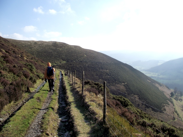 Heading down the Clwydian way towards the valley