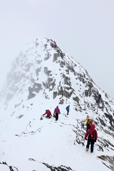 The rock pinnacle at the start (or finish!) of Striding Edge