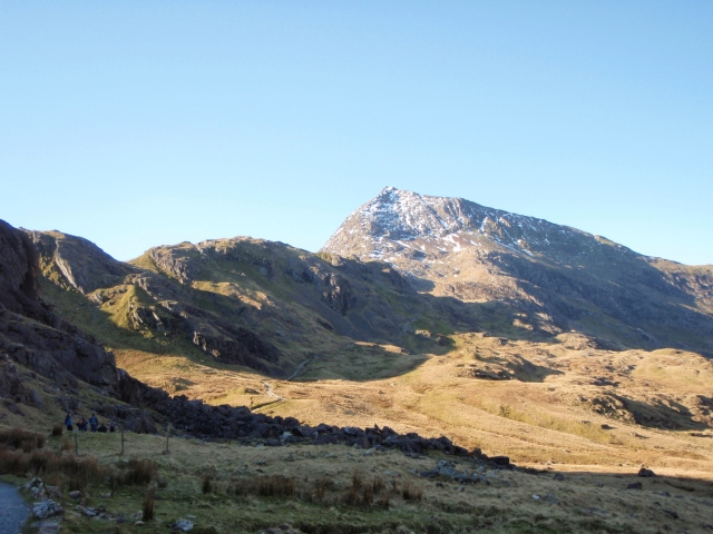 Crib Goch looming above the start of the PYG Track