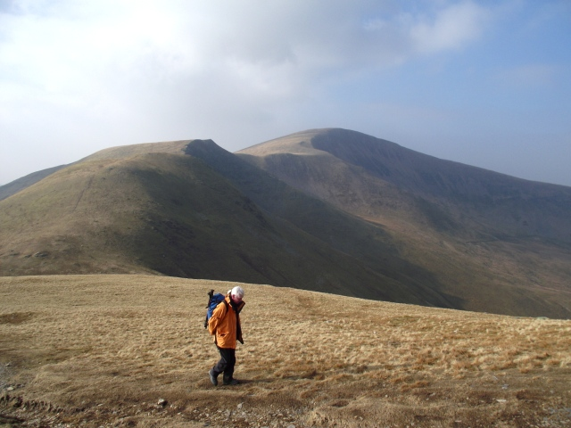 Looking back to Moel Eilio ….