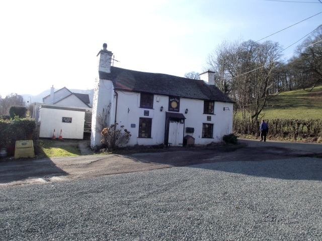 The Sun Inn near Rhewl, now apparently closed for business