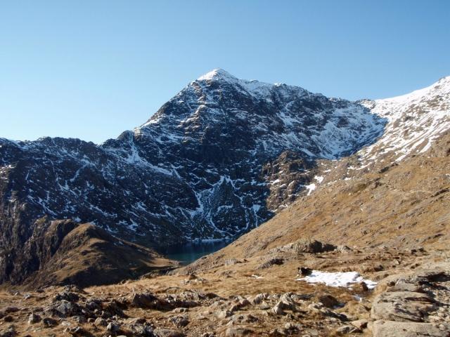 Yr Wyddfa (Snowdon) summit from the PYG Track