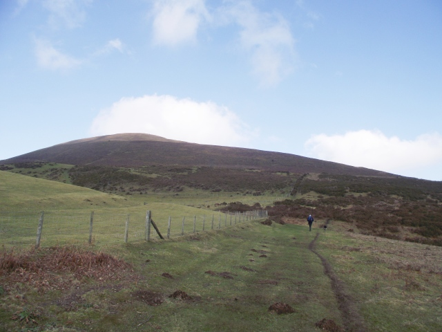 Heading upwards to our first hill, Moel Morfydd