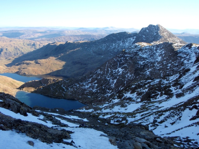 The view from the PYG Track across to Y Llewidd, my return route