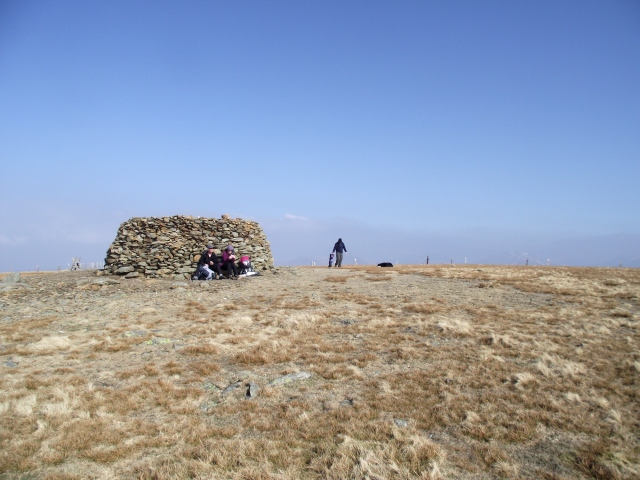 The summit of Moel Eilio, surprisingly busy
