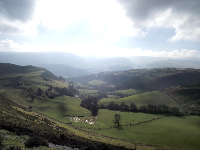 …. with views down to the Vale of Llangollen