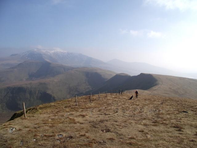 …. then it's off on the switchback ridge towards Foel Goch