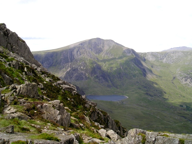 Y Garn above the lake of Llyn Idwal