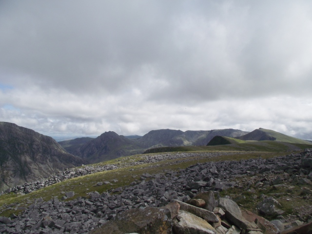 Y Garn on a good day - on the far right, seen from the north