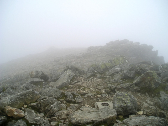 The summit of Y Garn as seen in 2009 ….
