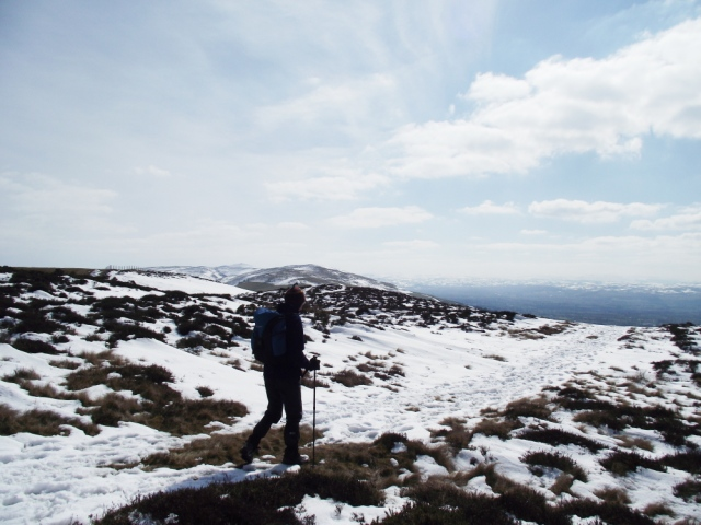 On the way down, and out of the cold east wind