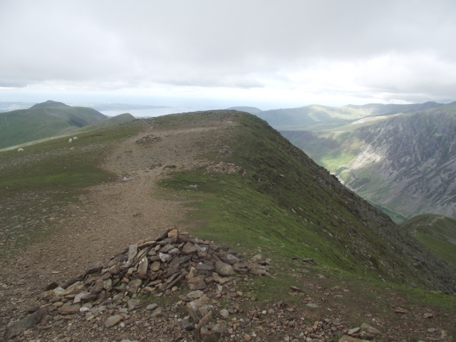 The start of the descent down the North East Ridge as seen in 2012