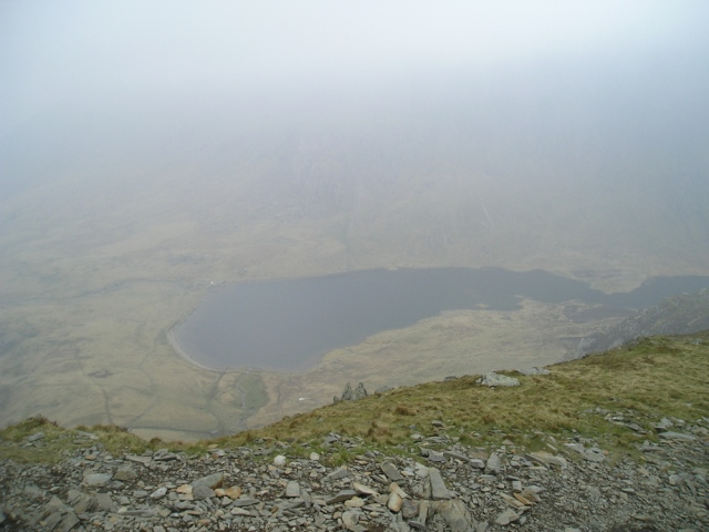What the visibility was like in 2009 – just starting to clear on the descent