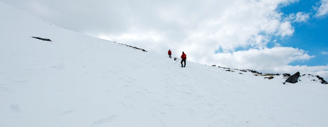 The descent from the summit (JB)