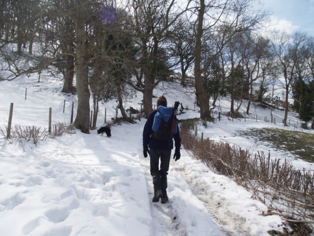 More snow as we got higher ….