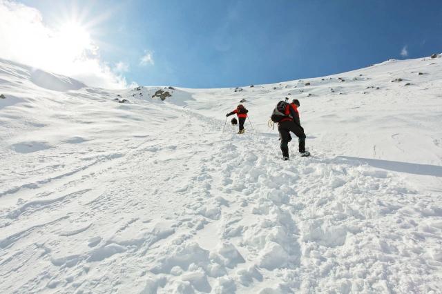 Steeper, but better snow (JB)