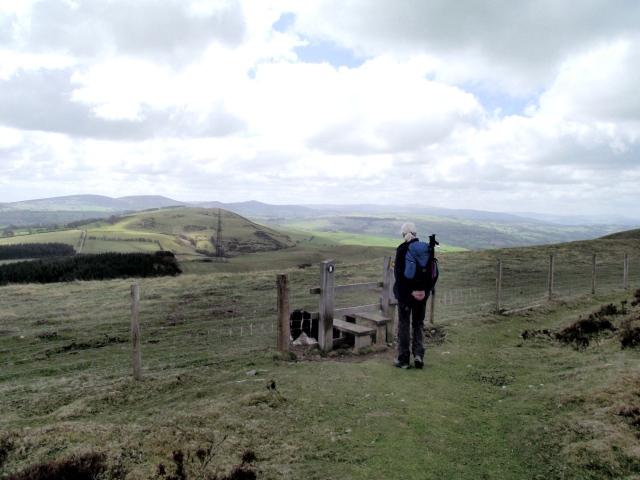 Stile on the Offa's Dyke Path ....