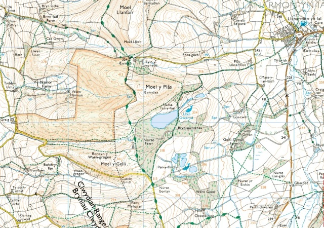 Moel y Plas in the Clwydian Hills