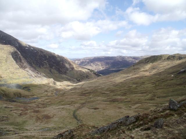 The view down Cwm Llan, our descent route