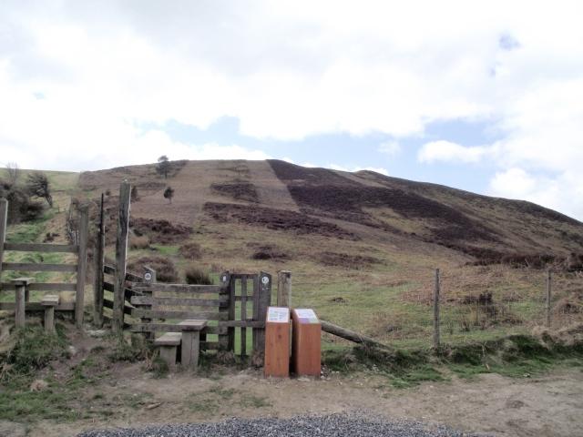 Looking south on the Offa's Dyke Path towards Moel y Plas