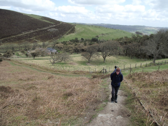 Chris and I out a few days after the night navigation exercise - Some uphill to start with ….
