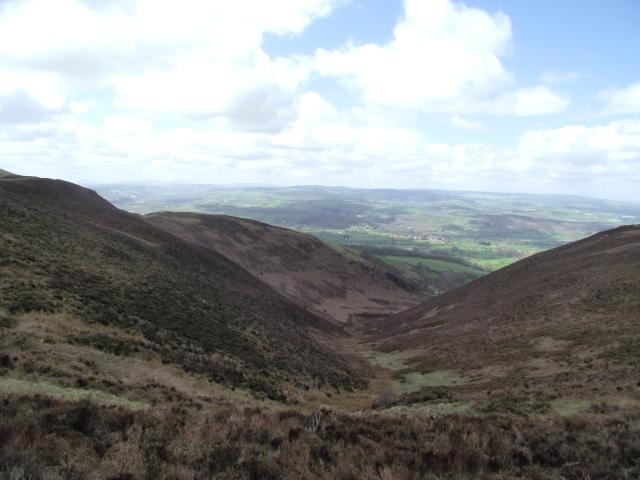 The view west towards Llanfair Dyffryn Clwyd