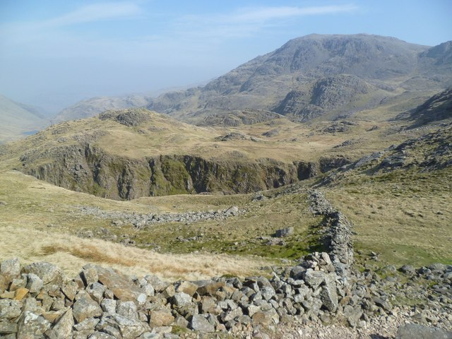 Looking back towards the Corridor Route from Lingmell Col  © Michael Graham