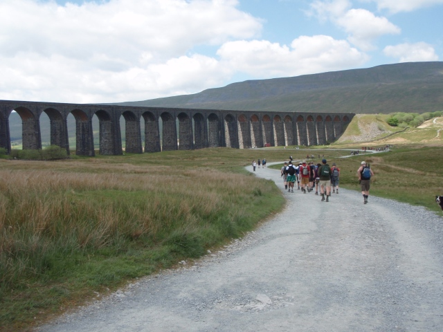 After a break at Ribblehead, it was off again, passing the Ribblehead Viaduct on the way