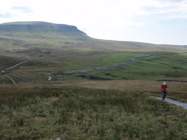 On the descent from Pen y Ghent on the Yorkshire Three Peaks Challenge
