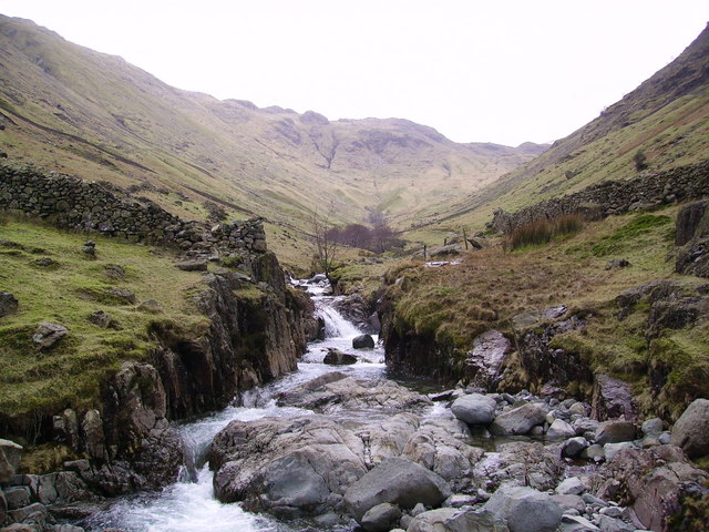 Looking up Grains Gill, our search task for the night  © Michael Graham