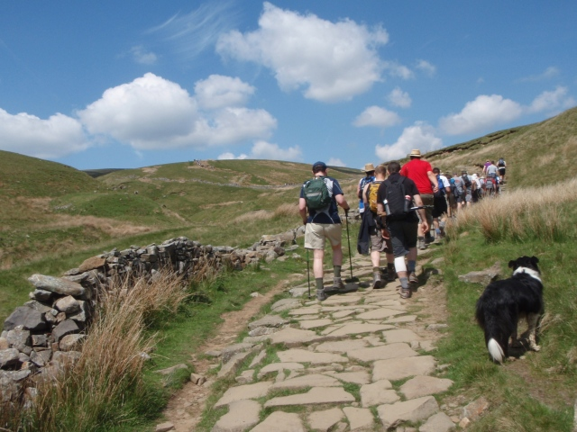 A steady ascent on a good track ….