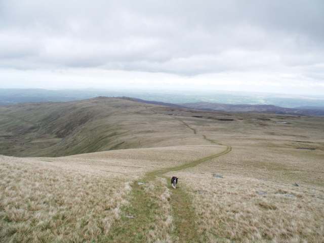 …. heading back towards Cefn Tal Llyn Eigiau